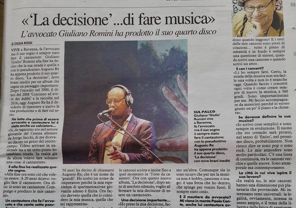 Resto del Carlino – La Decisione di fare musica…
