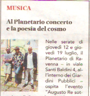 Ravenna e Dintorni – 12 luglio – Augusto Re al Planetario