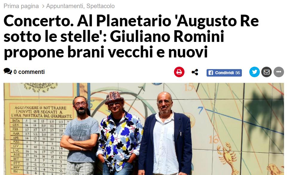 RavennaNotizie – 12 luglio – Augusto Re al Planetario
